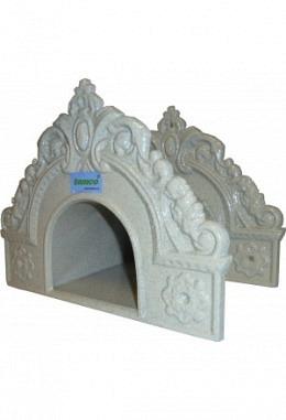 Wandschlauchhalter aus Aluminium pulverbeschichtet Modell Sandstein