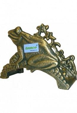 Wandschlauchhalter aus Aluminium Speziallackiert Modell Frosch 2620 grün/gold