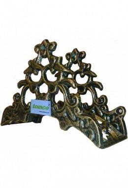Wandschlauchhalter aus Aluminium Speziallackiert Modell Schönbrunn 26104 grün/Gold