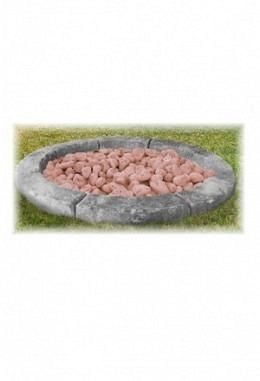 Stein Borders aus Betongemisch toskanisch bemalt- 130cm 957667005