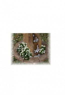 Stein Borders aus Betongemisch toskanisch bemalt- 130cm 957667006