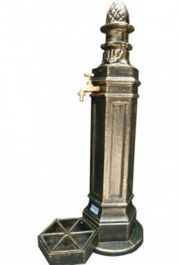 Standbrunnen grün/Gold gemescht 957626401 aus Aluminium Spezial lackiert Modell Schönbrunn