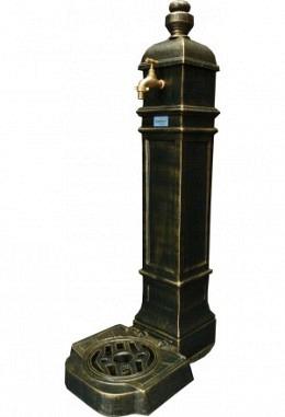 Standbrunnen grün 957626601 aus Aluminium Spezial lackiert grün /Gold Modell Belvedere