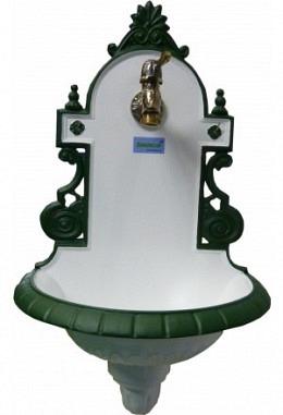 Kleine Bassena weiß/grün 957687004 pulverbeschichtet Modell Sissy