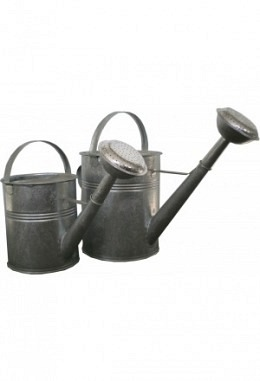 Gießkannen aus Metall feuerverzinkt und emailliert 9und 5 Liter 957648006
