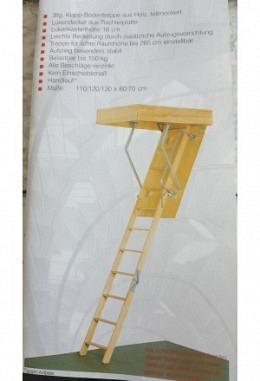 Bodentreppe aus Holz teilmontiert verschiedene Größen 95761003z