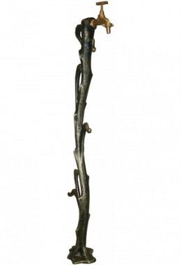 Wassersäule Modell DESIGN aus Aluminium grün/Gold 957602929
