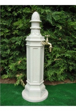Standbrunnen Sandstein 957687022 aus Aluminium pulverbeschichtet